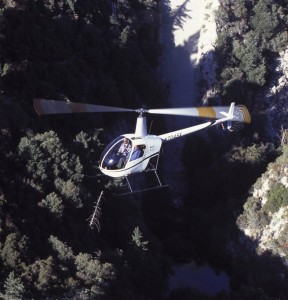 Robinson Helicopter's entry-level two-seat R22, base priced at $180,000, is the least expensive civilian chopper in the world.