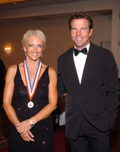 Dennis Quaid served as master of ceremonies for the enshrinement ceremony, during which Patty Wagstaff, air show headliner and three-time U.S. National Aerobatic Champion, accepted enshrinement.