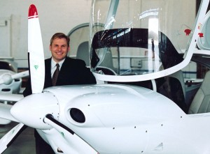 Peter Maurer, North American president of Diamond Jet Aircraft Industries, believes the D-JET, a five-place, single-engine turbofan jet, is the way to go.