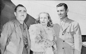 R to L: Clark Gable and his wife, Carole Lombard, were close friends of Paul Mantz. They frequently went on hunting trips with him to Baja California, Utah and Montana.