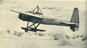 "When 20th Century Fox needed a special aircraft for ""The Flight of the Phoenix,"" Otto Timm designed the Tallmantz Phoenix P-1 for Tallmantz Aviation Inc."