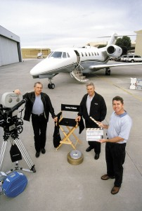 Before acquiring his Citation X (background), Sydney Pollack (left) owned a Lear 25, 35, 55 and then 60.