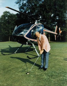Arnold Palmer acquired a Hughes MD500E in the mid-1980s. Lee Lauderback, his chief pilot at the time, said the ability to go from golf course to golf course added a lot of capability to his flight department.