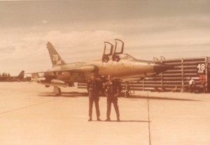 "From 1968 to 1972, Charlie Johnson went from McConnell AFB to Kadena Air Base in Okinawa, back to McConnell and then to Korat Air Base in Thailand, where he flew the F-105 ""Wild Weasel."""