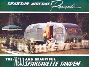 Color ad for the 1950 Spartan.