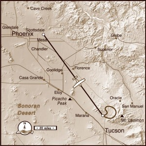 It just doesn't seem like Christmas, as we navigate our Flying Carpet southward over the sun-drenched Sonoran Desert.