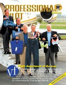 "The December 2004 cover of Professional Pilot, featuring VF Corporation, follows Murray Smith's ""4-P"" design: Pilot, President, Plane and Products."