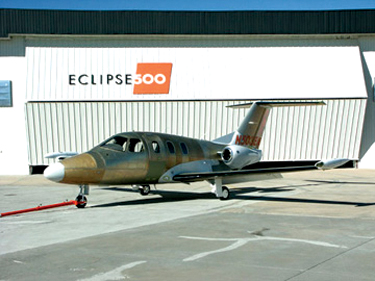 First Eclipse 500 Certification Flight Test Aircraft Rolls Out