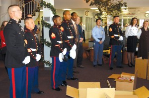 A small ceremony was held on December 8 at the Perfect Landing Restaurant for the Toys For Tots Foundation and Operation Independence, which gathered toys for needy children. The restaurant at the Denver jetCenter was one of several pickup points.