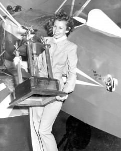 "Betty Skelton Frankman was frequently referred to as the ""First Woman of Firsts"" because of her many aviation and automotive records."