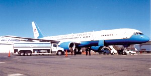 Refueling Aircraft One shortly after 9/11, at Long Island Jet Center's Republic Airport (FRG) location.