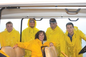 on Manager Laura Foscolo and staff in inclement weather, at Long Island Jet Center's West Hampton Beach (FOK) location.