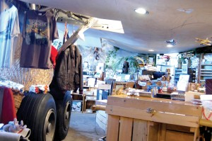 The Bamboo Airstrip Pilot Shop is decorated like a cargo jet that crashed into the jungle.