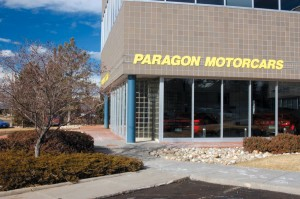 "Paragon Motorcars is an upscale ""hot-rod boutique"" specializing in pre-owned exotic motorcars located near Centennial Airport, off East Arapahoe Rd. and South Lima Street."