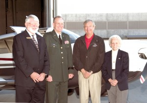 Scottsdale City Councilman Robert Littlefield, Brig. Gen. Richard Gregg Maxon, Wayne Fischer and Ruby Sheldon.