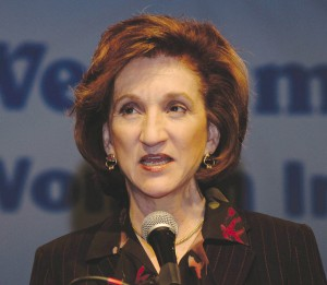 Federal Aviation Administration Administrator Marion Blakey was a keynote speaker at the 2004 WAI annual meeting.
