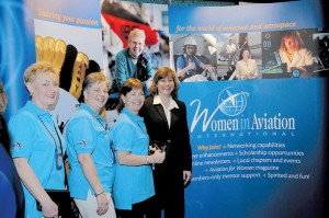 Three WAI volunteers and WAI President Dr. Peggy Chabrian were on hand at the organization's exhibit during its 2004 annual meeting in Reno, NV.