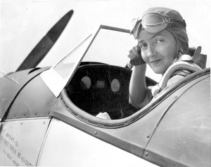 After Nancy Harkness Love organized the Women's Auxiliary Ferrying Squadron in the Air Transport Command Ferrying Division, she became the first woman to fly high-performance combat aircraft such as P-51 and
