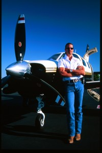 After getting his pilot's license, Lorenzo Lamas went from a Piper Archer, to a Seneca, to this Mirage, which he acquired in 2000. Presently, he's in-between airplanes.