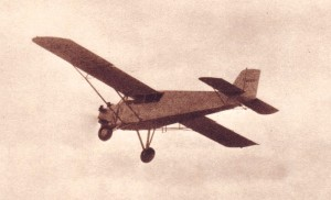 Douglas Corrigan's Curtiss Robin in flight.
