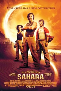 "Sahara"" will be released April 8. It's only the second popular Dirk Pitt adventure to be adapted to the big screen."