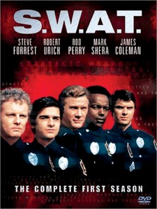 "In 1975, James Lawrence (far left) used the stage name of James Coleman to costar in the number one hit show ""S.W.A.T."" as sharpshooter T.J. McCabe."