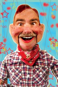 One of James Lawrence's regular clients loves to use cultural icons as centerpieces for his monthly magazine editorials. In this one, the client wanted to look like Howdy Doody...but like himself also.
