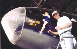Upon the recommendation of the Memphis Belle Memorial Association, owner and pilot David Tallichet commissioned Ron Kaplan to paint the nose art on his B-17 shortly after it received a new overall paint job in 1999.