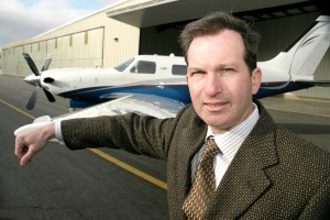 Dr. David Schreiber with his 2004 Piper Malibu Meridian.