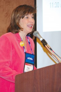 Dr. Peggy Chabrian, founder and president of Women in Aviation, International, addresses the conference.