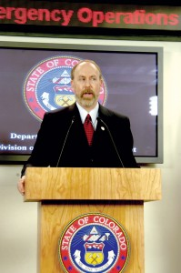 Centennial Mayor Randy Pye was on hand for the opening of Colorado's new Multi-Agency Coordination Center.