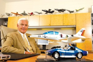 "His office at the General Motors Design Center, in Warren, Mich., is evidence that Bob Lutz is a ""plane guy"" as well as a ""car guy."""