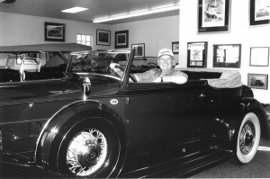 Bob Pond's car collection includes this 1934 Packard Victoria.