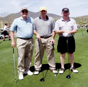 L to R: Starting in December 2008, Greg Gates, Glenn Hughes unreachable golf courses in their Eclipse 500.