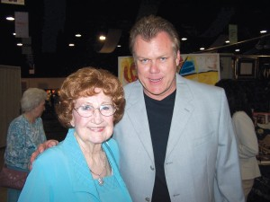 Nellie Jackson and her son, Craig Jackson, welcome guests at the 2005 Barrett-Jackson Palm Beach Collector Car Auction Opening Night Gala to benefit the National Center for Missing and Exploited Children.