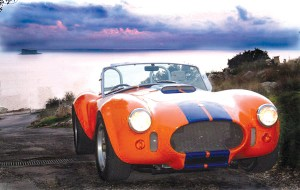 A re-creation of the rare Lister Jaguar—only 26 were made for racing back in the 1950s.