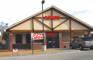 Bono's Pit Bar-B-Q, from Jacksonville, Fla., has opened its first location west of the Mississippi River, on Dry Creek Road near I-25.