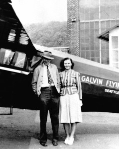Marian and Jim Galvin stand in front of his Ryan B-1 Brougham.