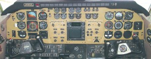 "This ""before"" view of an aircraft panel shows the usual instrument clutter traditionally found in most modern aircraft."