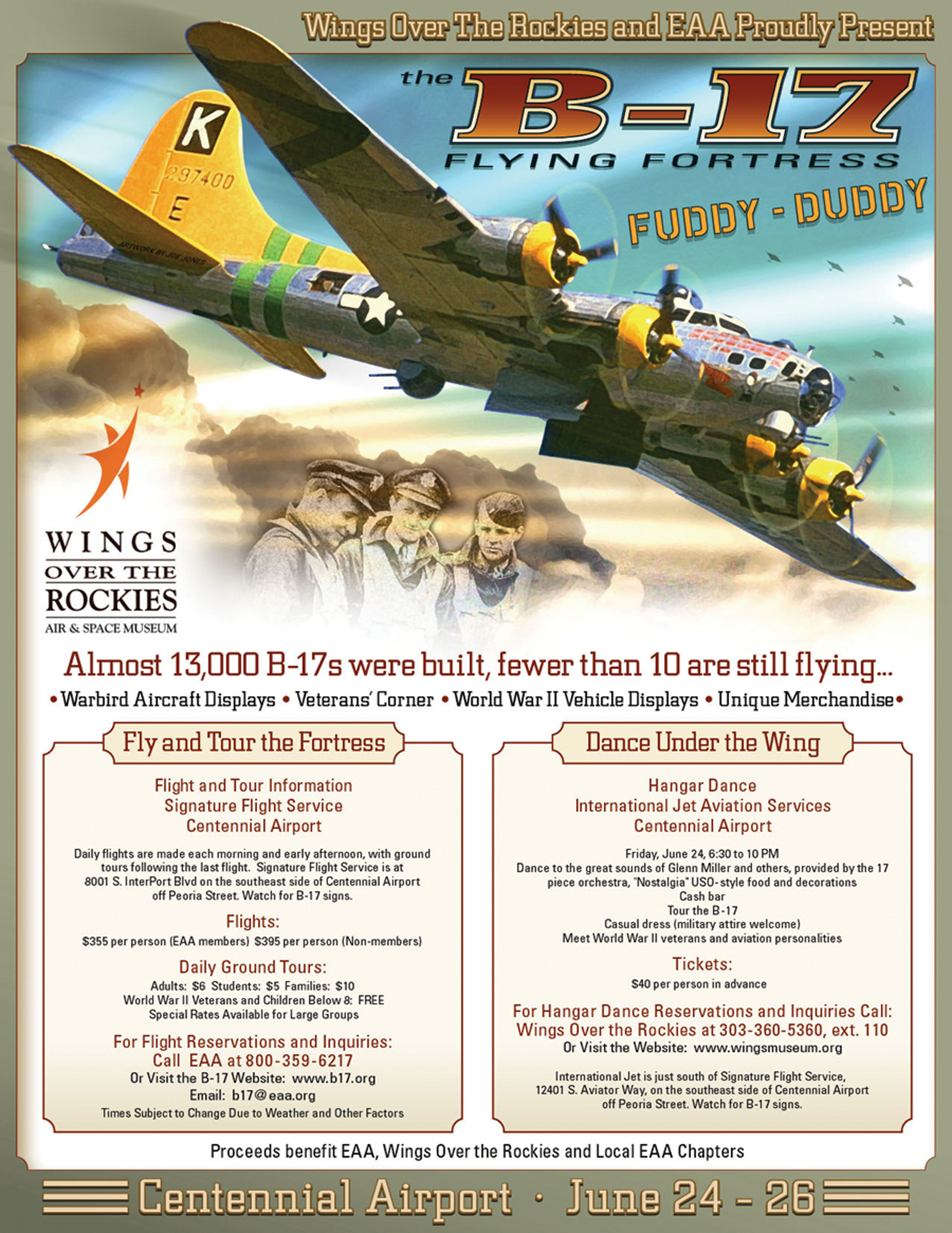 Wings Over the Rockies to Host B-17 at Centennial