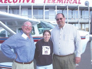 "Veronica Rivers was a guest on an Angel Flight from Pasco, Wash., to Tacoma Narrows Airport to attend a camp for sick youth. Dale Terwedo called her ""a real trooper"" because the plane encountered ""extremely bumpy, unforeseen weather"" that hadn't been pred"