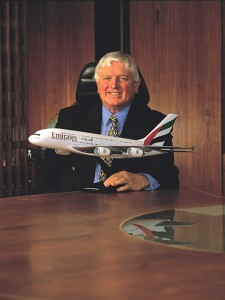 Emirates Group President Maurice Flanagan has helped the company minimize its cost and boost profits to more than $708 million in the past year.