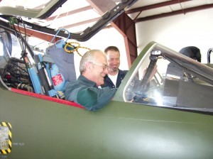 Alpha Jets' maintenance work is reviewed by Hans von der Hofen (in cockpit) and Mike Lee, whose Arlington Jet Services at Arlington Airport provides national maintenance on L-29, L-39 and Alpha Jet warbirds.