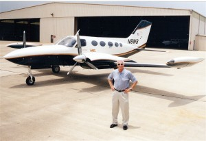 "Gene Cernan says his Cessna 421 is ""an oldie but a goodie."""