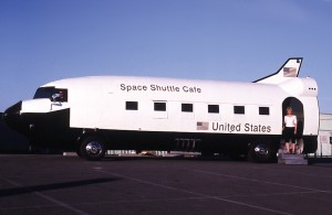 Phil and Becky Petersen with their Space Shuttle Cafe.