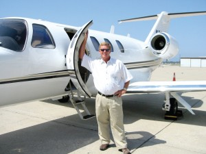 Larry Barels enjoys his Citation CJ-1 and can't wait for the guys in Cabo to see his Javelin.