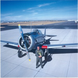 "Shortly after acquiring his T-6, Steve Cowell was told that official Air Force records showed the aircraft to be the ""only existing, authentic aircraft utilized exclusively by the Tuskegee Airmen during World War II."""