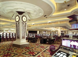 Each area of the Fallsview casino floor has its own ambience and style.