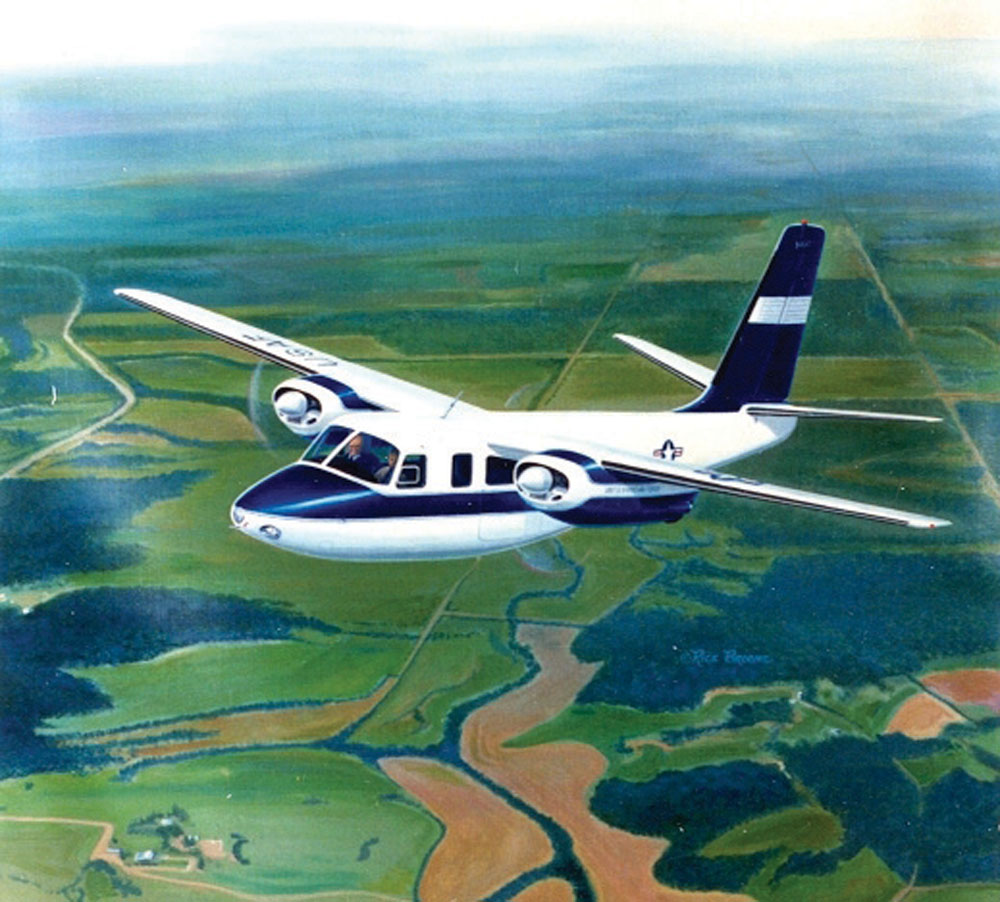 "Rick Broome has painted hundreds of makes and models of aircraft, including the former ""Air Force One"" Aero Commander L-26C flown by President Eisenhower."