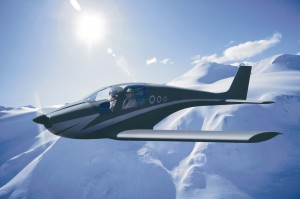 In this computer simulation, the Nexaer LS1 flies over snow-covered mountaintops. Its service ceiling is still to be determined, but the plane is capable of maximum level-flight speed of 120 knots (138 mph).